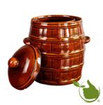 Zuurkoolpot 8 liter (Bruin/Geblokt)