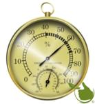 Thermometer / hygrometer (goudkleurig)
