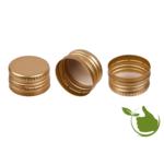 PP caps. 28 x 18 gedraaid goud 100 st.