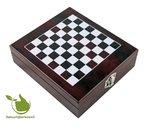 Exclusieve wijn openerset met schaakspel