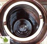 Zuurkoolpot (bruin/klassiek) 15 liter