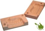 Botervorm rechthoek voor 150g boter - motief: Lam