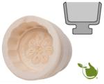 Botervorm rond voor 30 g boter - motief: rozet