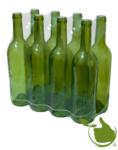 Wijnflessen 0,75 liter in Olijfgroen