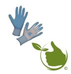 Handschoen Garden Care blauw mt.8 (uni)