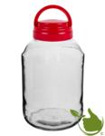Glazen Pot 3 liter-inclusief deksel met handvat