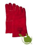 Barbecue Leren Handschoen van rood splitleder