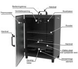 Elektrische rookkast met thermostaat