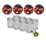 Inmaakpotten 500 ml met twist-off deksel (Bessen) 8 stuks