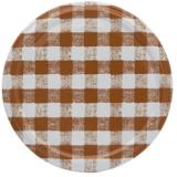 Twist-off deksel bruin/wit geblokt