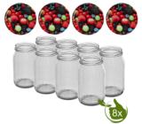 Glazenpotten 900 ml met twist-off deksel (Bessen) 8 stuks