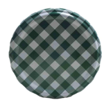 Twist-off deksel groen/wit blok design