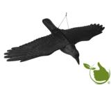 Kunststof raaf met uitgestrekte vleugels
