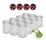 Glazenpotten 500 ml met twist-off deksel (bessen) 12 stuks