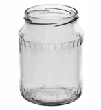 Glazenpotten 700 ml exclusief deksel verpakt per 8 stuks