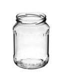 Glazenpotten 700 ml met twist-off deksel (wit) 8 stuks
