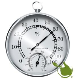 Thermometer / hygrometer (zilverkleurig)