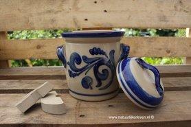 Fermentatiepot grijs/blauw 2 liter inclusief 2 verzwaringsstenen