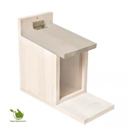 Eekhoorn voederhuisje wit cottage 27x23x12,5CM