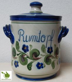 Rumtopf met groen-blauw motief 5 liter
