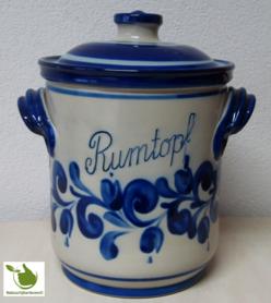 Rumtopf met blauw grijs motief 5 liter