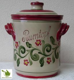 Rumtopf met Rood-Groen motief 5 liter
