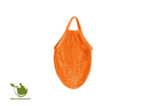 Boodschappentas (oranje) vervaardigd van biologisch katoen