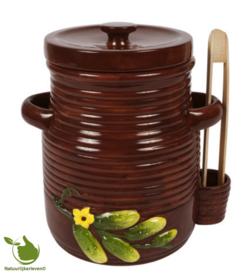 Augurkenpot 5 liter (bruin)
