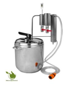 Distilleerder en snelkookpan 2in1 12L, koeler + 2x decanter
