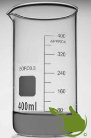 Bekerglas 400 ml hoog model gegradueerd hittebestendig