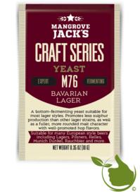 Gedroogde biergist Bavarian Lager M76 – Mangrove Jack's Craft Series - 10 g