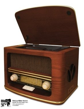 Retro radio met CD speler en MP3 en opname recording
