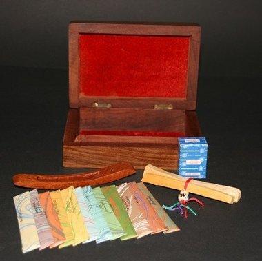 Luxe houten wierook box