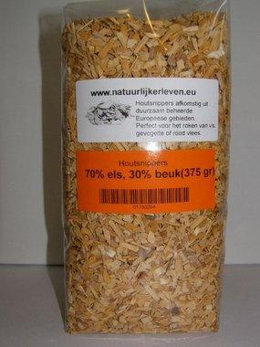Houtsnippers voor roken en grillen (70% els en 30% beuken)