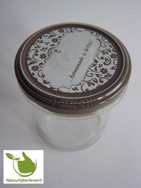Jampotten 346 ml met twist-off deksel (schrijfbaar-design) 6 stuks