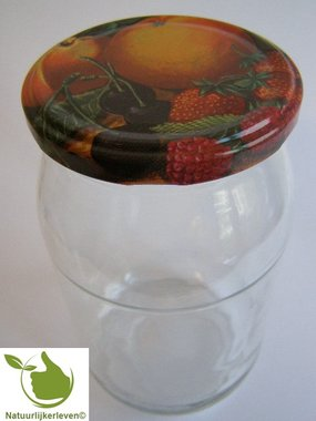 Glazenpotten 900 ml met twist-off deksel (fruit classic) 8 stuks