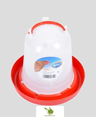 Drinkklok voor pluimvee met handvat 3 liter