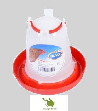 Drinkklok voor pluimvee met handvat 1 liter