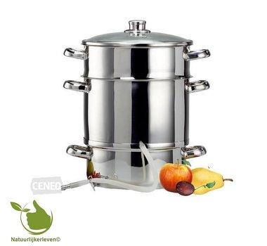 Ontsapper, stoomextractor voor 6,7 kg fruit