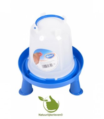 Drinkklok voor pluimvee met handvat en pootjes 3 liter