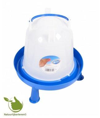 Drinkklok voor pluimvee met handvat en pootjes 7 liter