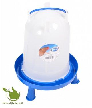 Drinkklok voor pluimvee met handvat en pootjes 10 liter
