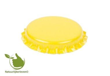 Kroonkurken Geel 26 mm (verpakt per 100 stuks)