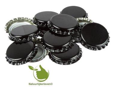Kroonkurken Zwart 26 mm (verpakt per 100 stuks)