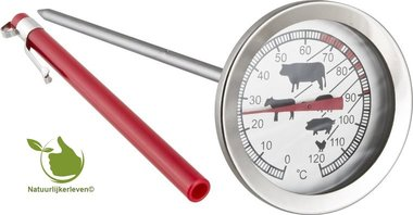 Thermometer voor barbecue 0 ° C + 120 ° C