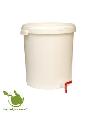 Gistingscontainer van 30L met deksel en aftapkraantje