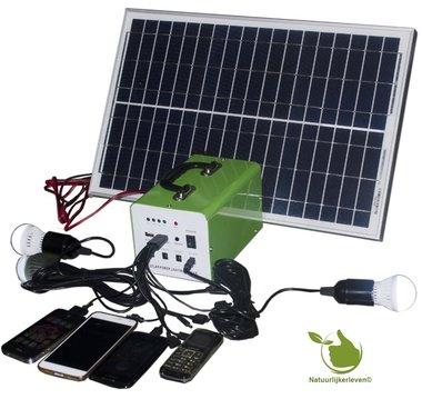 Draagbaar zonnepaneel LED Verlichtingsset 20w met Accu