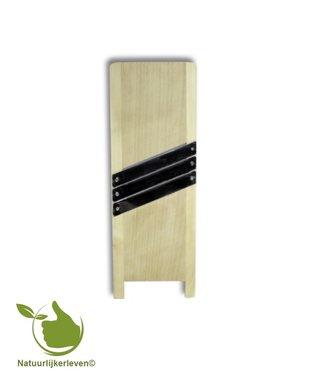 Houten Mandoline of Koolsnijder 3 messen 45 cm x 15 cm
