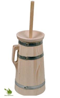 Authentieke houten boterkarn manueel 3 liter