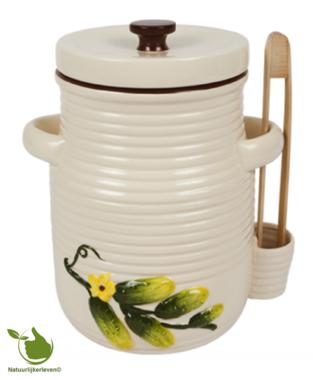 Augurkenpot 5 liter (wit)